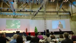 Metropolitten af Volokolamsk, Hilarion Alfeyev taler til Kirkernes Verdensråds  delegerede på generalforsamlingen i Busan, Sydkorea, 2013