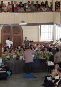 Gudstjeneste i luthersk indonesisk kirke. Foto: HKBP/Fernando Sihotang